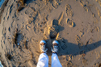 Keeping My Feet on the Ground, Indian Neck Beach, Wellfleet, Cape Cod