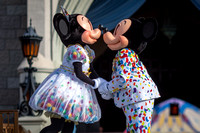 Mickey and Minnie Share a Kiss