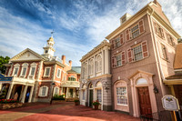 Liberty Square in the Morning, Magic Kingdom