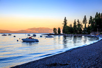 As the Sun Sets on Lake Tahoe