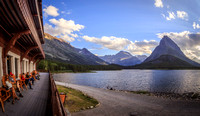 Looking Out from Many Glacier Hotel, Glacier National Park