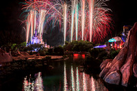 Wishes Fireworks from Tomorrowland Bridge, Magic Kingdom