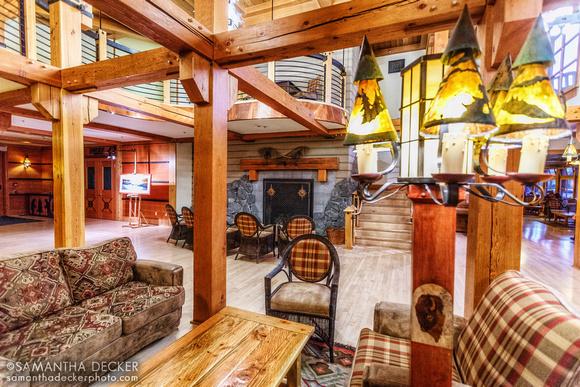 Old Faithful Snow Lodge Lobby, Yellowstone National Park