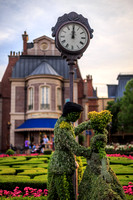 Cinderella and Prince Charming Topiaries at France Pavilion, EPCOT