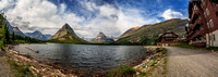 Swiftcurrent Lake and the Many Glacier Hotel, Glacier National Park